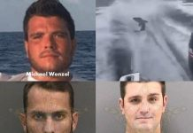 Michael Wenzel, Robert Lee Benac,Spencer Heintz , shark dragging video