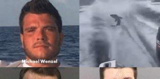 Michael Wenzel, Robert Lee Benac,Spencer Heintz , shark dragging video