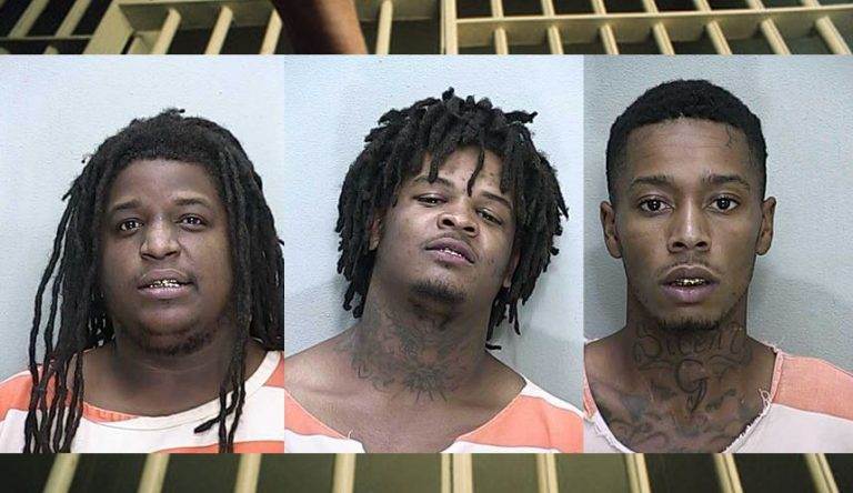 Three busted while purchasing weapons