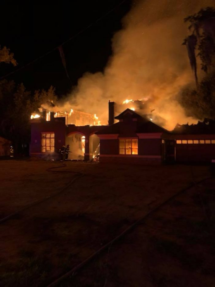 VIDEO: Early morning fire destroys luxury home