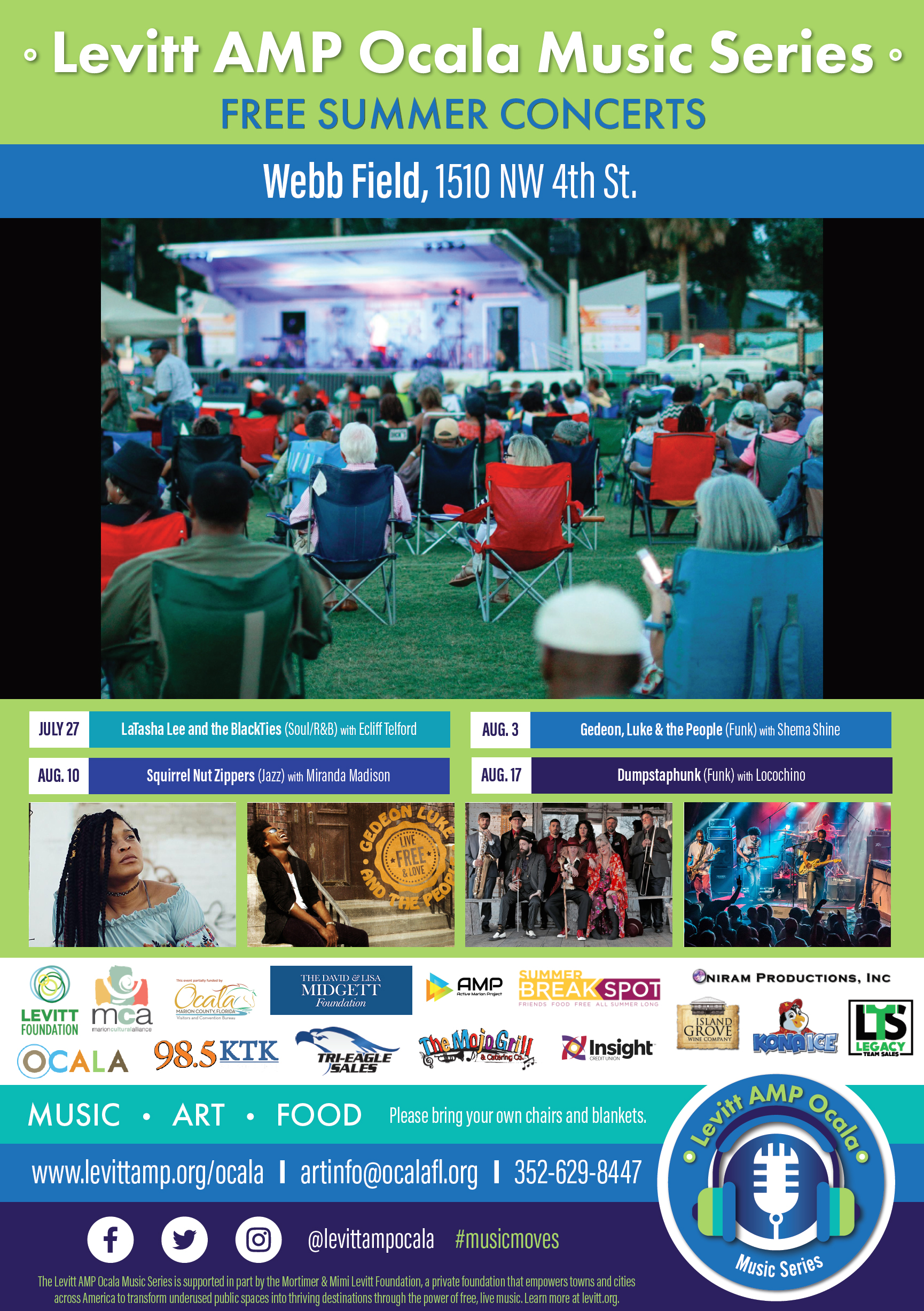The Levitt AMP Ocala Music Series , events, ocala news, ocala post, free concerts