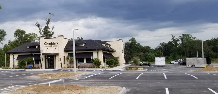Cheddar's Scratch Kitchen restaurant nearly finished