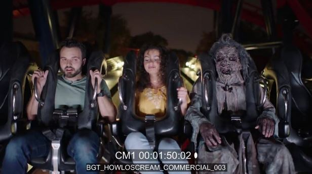 Actor vomits while filming Howl-O-Scream commercial