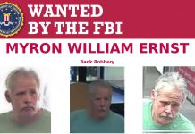 Myron William Ernst, wanted, FBI, OPD, bank robbery, ocala news, ocala post