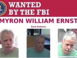 Myron William Ernst, wanted, FBI, OPD, bank robbery, ocala news, ocala post