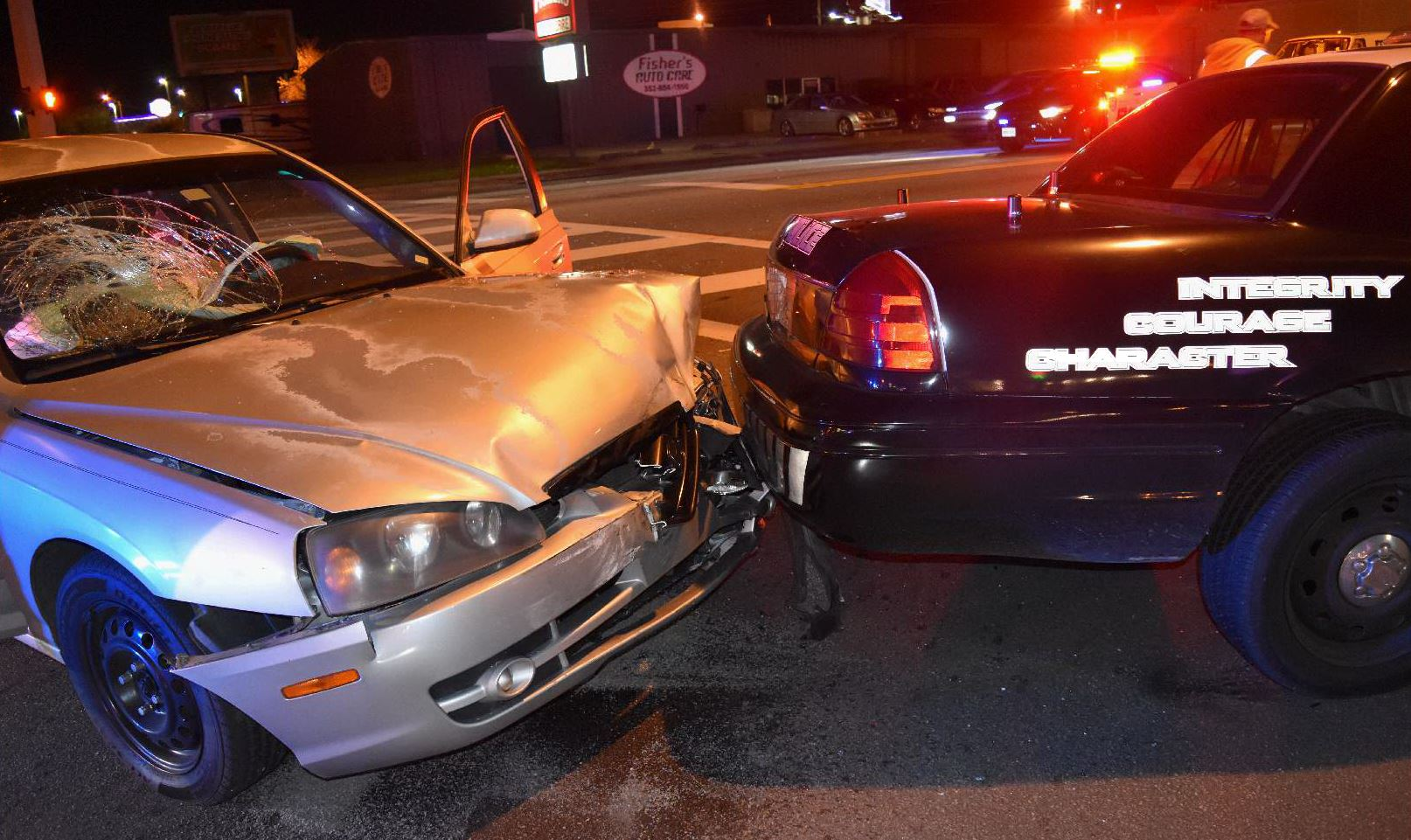 opd crash, police cruiser hit, ocala post, ocala news