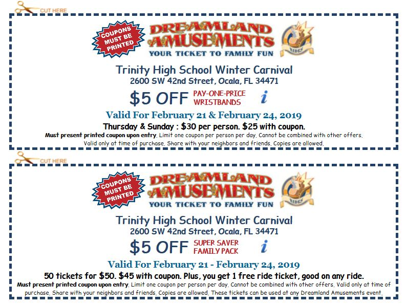 trinity catholic coupons, carnival coupons, blessed trinity carnival coupons, ocala news, ocala post