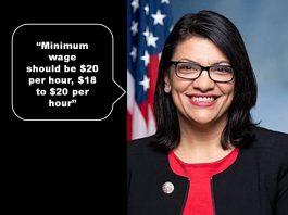 Rashida Tlaib, minimum wage