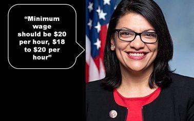 Rashida Tlaib demands $20 per hour minimum wage