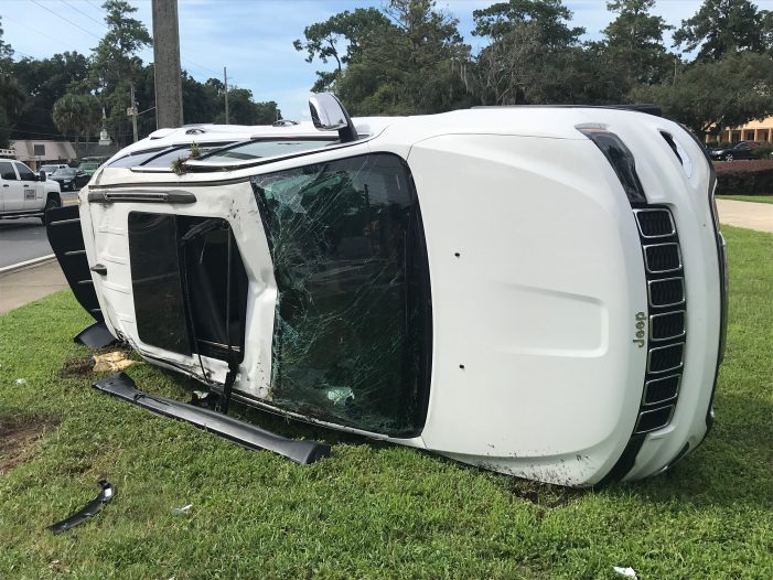 Driver transported to local hospital following two-vehicle crash