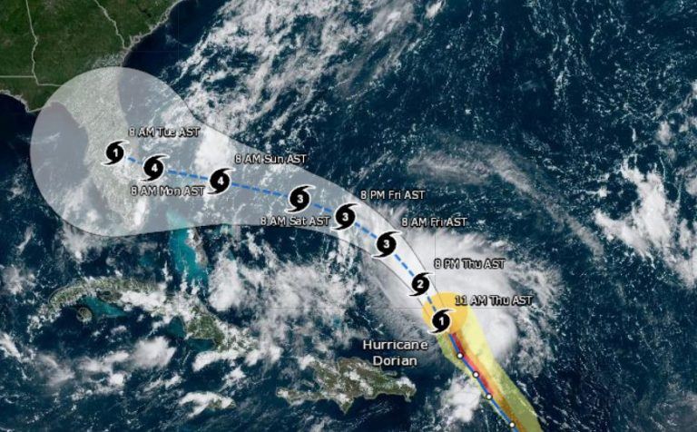 VIDEO: Hurricane Dorian expected to reach category 4 hurricane strength, new satellite images from NOAA
