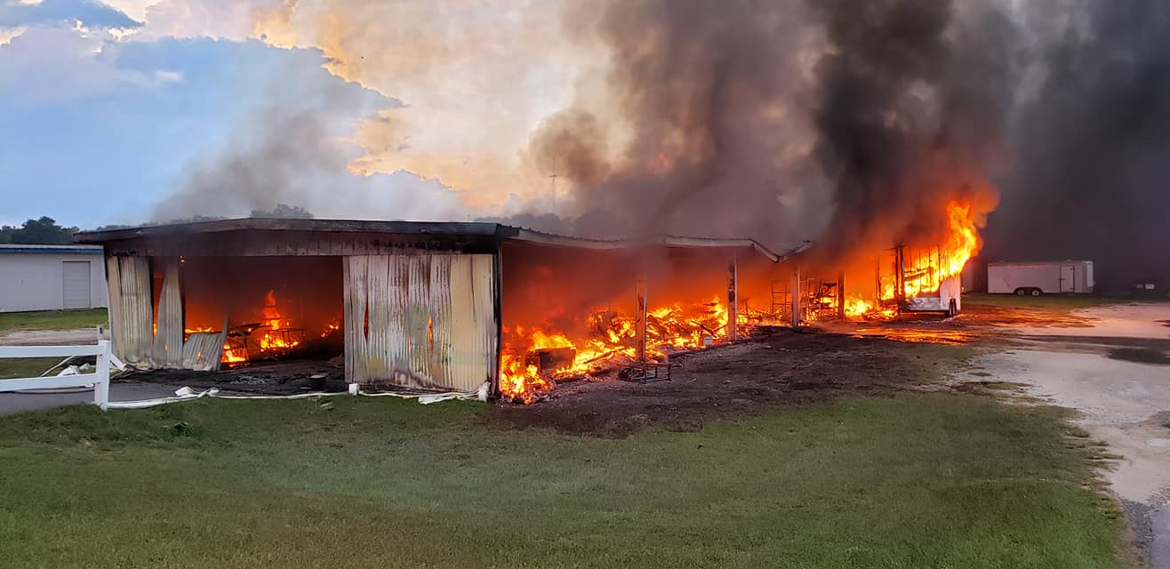 Ocala Post - Firefighters battle blaze at Market of Marion