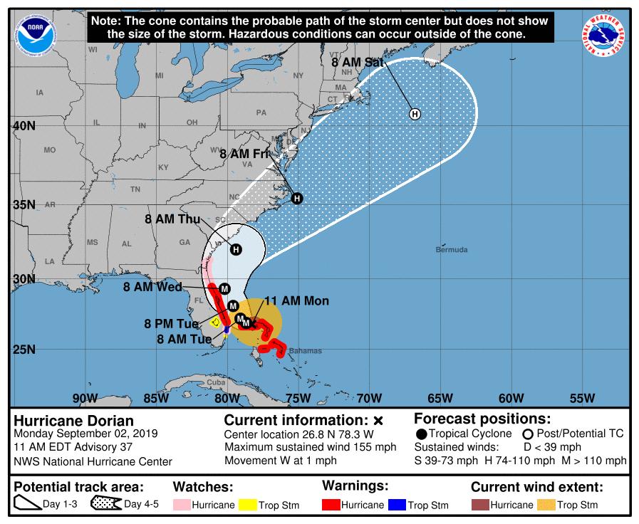 hurricane dorian, dorian, tropical storm, winds, marion county