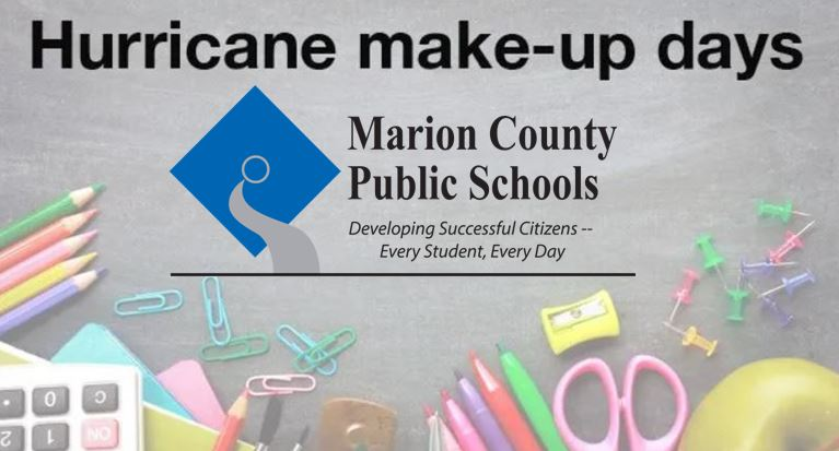 hurricane dorian makeup days, school make up days, ocala news, ocala post, marion county schools