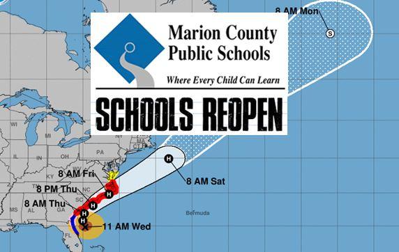 schools open marion county