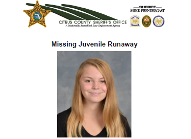 missing, crystal river, runaway