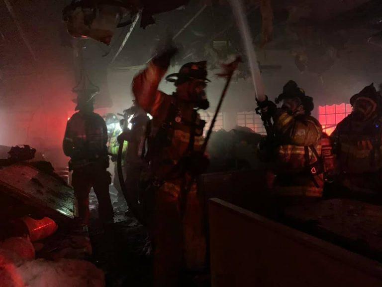 MCFR battles blaze at Aunt Fannie's restaurant