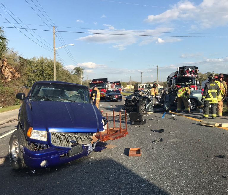 One person extricated following multi-vehicle crash