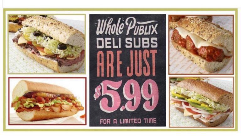 ALL Publix subs on sale for $5.99 next week