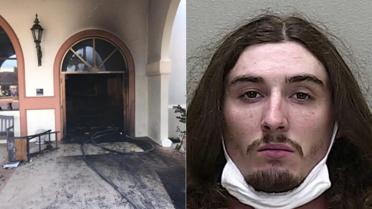 Dunnellon man who smiled, laughed after crashing into packed church, setting it on fire, now charged with hate crime