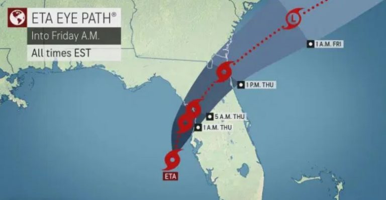 National Weather Service Tropical Storm ETA update