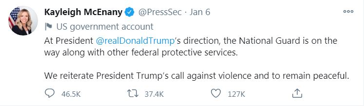 trump tweets, capitol, ocala news