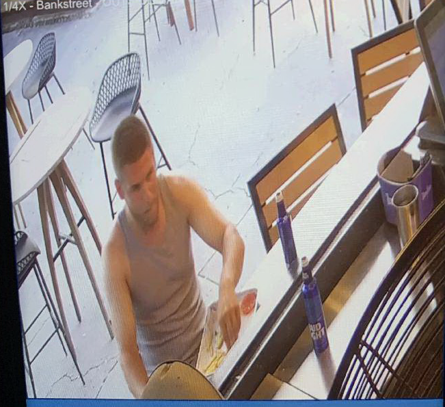 Wanted: Suspect vandalized restaurant bathroom, did not pay tab