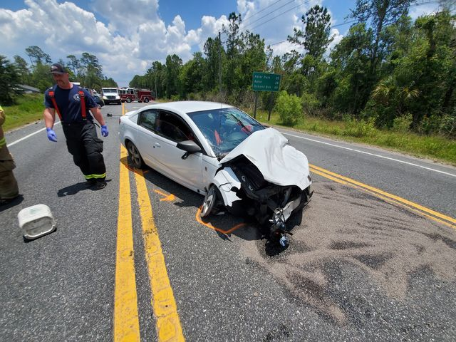FHP: Man on the run after he fled from accident on foot, two injured