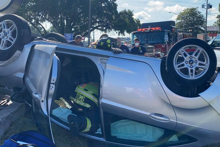 One injured in rollover crash on E. Silver Springs Boulevard