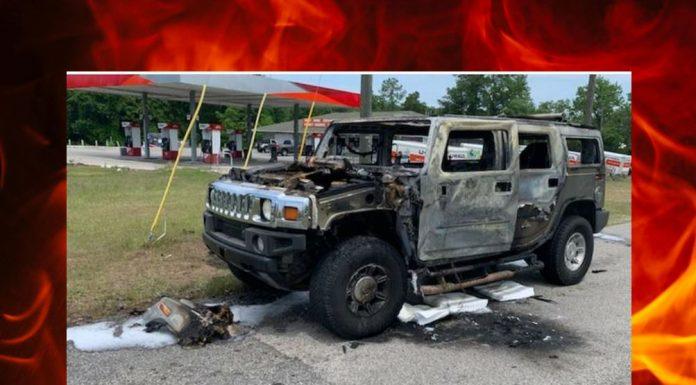 hummer fire, gas hoarder, ocala news, ocala post