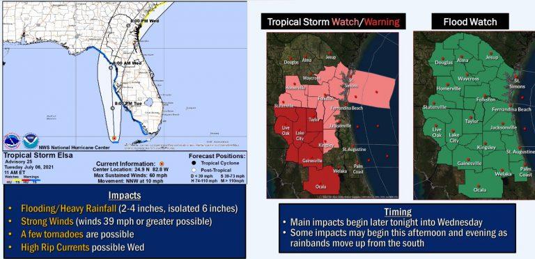 Tropical Storm Elsa update as of 2 p.m
