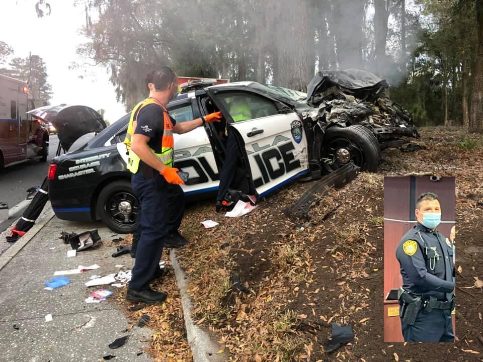 ocala news, ocala post, cop ran red light, opd