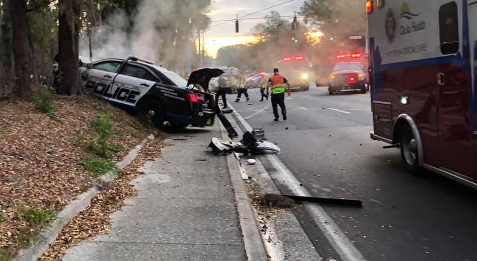 ocala news, ocala post, opd, cop ran red light